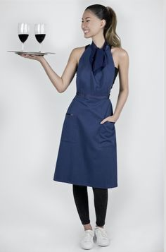Trendy and luxurious staff apron. 100% water and stain resistant, with cotton… Mehr