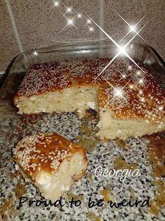 """Η Συνταγή είναι από κ. Georgia Chatzimanoli-Grimwood – """"Γλυκά κουταλιού και φαγητά ....πιρουνιού!!"""". Είναι τόσο αφράτο ..που ένα κομμάτι δεν είναι αρκετό...! ΥΛΙΚΆ 4 ΑΥΓΑ 1 ΠΟΤΉΡΙ ΚΑΛΑΜΠΟΚΈΛΑΙΟ 1 ΠΟΤΉΡΙ ΓΙΑΟΥΡΤΙ 2 ΠΟΤΉΡΙΑ ΑΛΕΎΡΙ ΦΑΡΙΝΑΠ 1ΚΟΥΤΑΛΑΚΙ ΜΙΚΡΌ ΜΠΕΙΚΙΝ ΛΙΓΌΤΕΡΟ ΑΠΟ ΕΝΑ"""