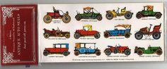 Stickers Vintage 3 sheets ANTIQUE AUTO SEALS 12 cars per sheet new A1-3 #ANTIQUEAUTOSALES #Stickers
