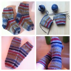 About 2 Month ago, I've knitted these Socks for my little daughter. They don't fit anymore! I've ribbed them back and knitted tube socks out of them. They fit great, and Marisa loves her new Socks!