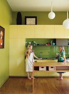 mod kitchen, don't like the green cabinets...but style wise, yes.