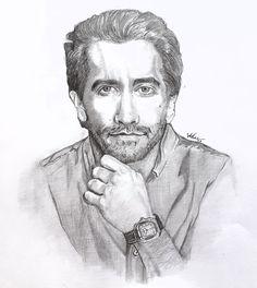 Celebrity sketch Jake Gyllenhaal, Sketch, Celebrity, Hollywood, Instagram, Art, City, Sketch Drawing, Celebrities