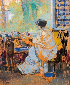 Ulisse Caputo - Donna con la lettera