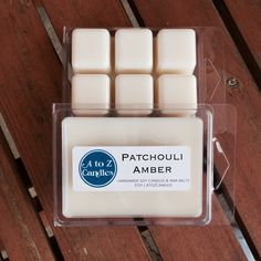 No. 861 | PATCHOULI AMBER | Natural Soy Wax Melts | 2.75 oz Clamshell | Hand Poured | Vegan | Eco-Friendly | Nature | Aromatherapy by AtoZCandles on Etsy https://www.etsy.com/listing/260499177/no-861-patchouli-amber-natural-soy-wax