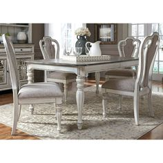 Magnolia Manor Dining 5 Piece Rectangular Table Set by Liberty Furniture at Hudson's Furniture