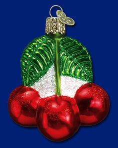 Cherries Old World Christmas Glass Ornaments Xmas Tree Christmas Tree Decorations Old World