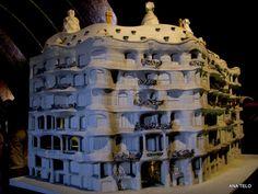 Maquete--La Pedrera-de Gaudi-Barcelona