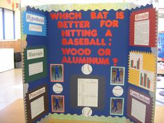 baseball bat science fair project | Which Bat is Better for Hitting a Baseball; Wood or Aluminum