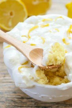 Lemon Cloud Mug Cake  - CountryLiving.com