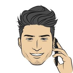The new hairstyle 2#mineportraitapp #mine #portrait #app #new #instagood #fashion #hairstyle #men #handsome #smile #cool #アプリ #似顔絵