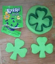 St. Patrick's Day Kool-aid Playdough