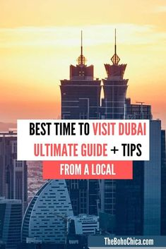 Best time to visit Dubai for sightseeing, outdoor adventures, shopping, honeymoons, families, desert safari & cheap hotels, also broken down my month. Skydiving In Dubai, Travel Around The World, Around The Worlds, Great Buildings And Structures, Modern Buildings, Dubai Holidays, Travel Photos, Travel Tips, Travel Advise