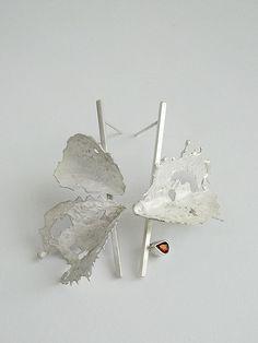 Andra Lupu earrings - 925 silver, garnet: