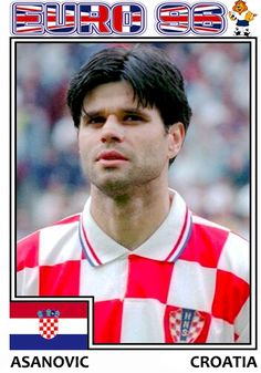 Euro 96, Croatia, Soccer, Baseball Cards, Sports, Hs Sports, Futbol, European Football, European Soccer
