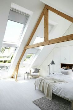 What comes in your mind when somebody said loft room? Can it be the dusty, chilly, old room which is certainly unsuitable for a bedroom? ) If so, then you will need to observe these minimalist and modern loft bedroom… Continue Reading → Sanctuary Bedroom, Home, Budget Bedroom, Bedroom Design, Bedroom Loft, Loft Room, Interior Design, Bedroom, Interior Design Bedroom