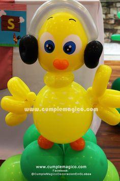 Animalitos de Granja realizados en globos Decoraciones: www.facebook.com/CumpleMagicoDecoracionEnGlobos/