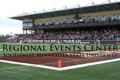 The Regional Event Center at SMSU. Home to the SMSU & Marshall HS football & soccer teams as well as host to regional events like conferences, meetings, speakers, & concerts.
