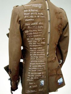 Artist Paddy Hartley: Henry Ralph Lumley's uniform tells his story in embroidery, felt Textiles, Beaded Beads, Recycled Fashion, Recycled Clothing, Altered Couture, Fashion Art, Fashion Design, Fashion 2015, Fabric Manipulation