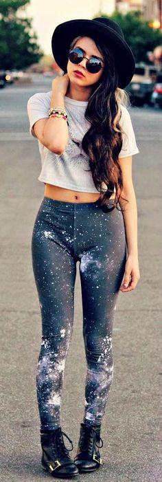 galaxy leggings  #Unique_Boho_Style
