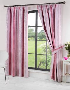 Stripey Ready Made Blackout Curtains in Pink from £19.95