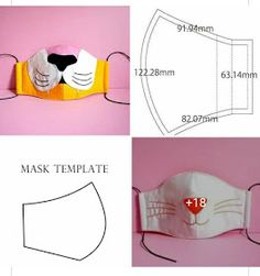 How To Wear Cloth Face Mask? Should sit firmly but comfortably on the face Should have ties or loops Book Folding Patterns Free Templates, Sewing Patterns Free, Free Pattern, Easy Face Masks, Diy Face Mask, Sewing Hacks, Sewing Projects, Crochet Mask, Nose Mask