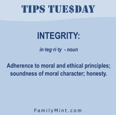 """If you have integrity, nothing else matters. If you don't have integrity, nothing else matters."" -Alan Simpson"