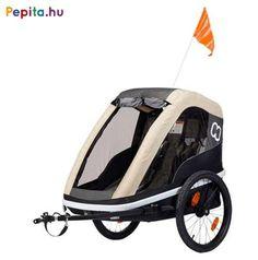 Két gyermek szállítása esetén a könnyű, mégis erős Avenida kerékpár utánfutó biztosítja a tökéletes védelmet és a sima utazást! Könnyű elülső nyitás szíjjal és akasztó horoggal.    Jellemzői:  - Alumínium védőkeret  - Kerékpár vontató rúd  - Mosható üléspárna  - Tágas tárolórész  - Extra hosszú árnyékoló  - Állítható, 5 pontos biztonsági öv  - Rögzítő fék  - Első és hátsó reflektorok  - Fényvisszaverő csíkok  - Ergonomikus, állítható fogantyú  - Kompakt, egyszerűen összecsukható… Bmx, 20 Wheels, Bike Trailer, Small Baby, Mesh Fabric, Multifunctional, Aluminium, Baby Car Seats, Baby Strollers