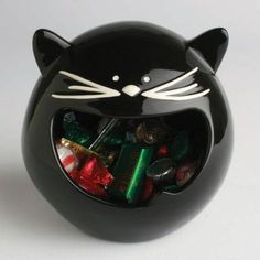 Black Cat Treat Bowl