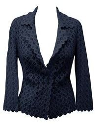 Such a pretty navy lace blazer