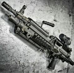 M249 SAW Paratrooper edition. guns, weapons, war, protection, 2nd amendment, America, firearms, munitions #guns #weapons
