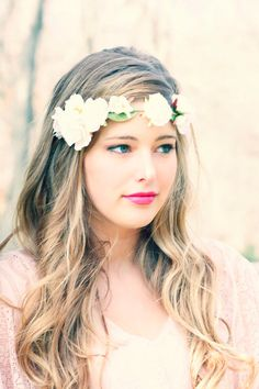 white roses headpiece,  bridal headband, flower headpiece