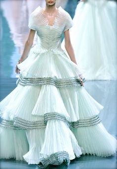 2000s designer work inspired by Crinoline period: Christian Dior Couture F/W 2008