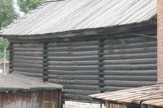 Mill in Siberia built in 1880 from Siberian Larch – untreated