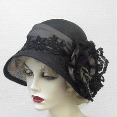 Hand Made Couture Vintage Style Cloche Women's Hat by Gail's Custom Hats | CustomMade.com