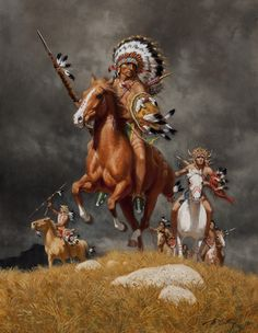 War Chief of the Sioux - Frank McCarthy - Artist Art for Sale - Frank McCarthy Native American Paintings, Native American Pictures, Native American Artists, Native American History, Indian Paintings, Indian Horses, Native American Warrior, West Art, American Indian Art