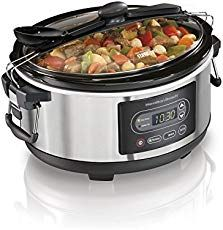 Buy Hamilton Beach 33957 Programmable Stay or Go Slow Cooker, Silver securely online today at a great price. Hamilton Beach 33957 Programmable Stay or Go Slow Cooker, Slow Cooker Recipes, Crockpot Recipes, Chicken Recipes, Meal Recipes, Best Slow Cooker, Pudding Recipes, Potato Recipes, Casserole Recipes, Salad Recipes