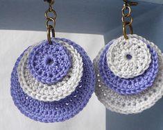 Boucles d'oreille en coton de couleurs au choix