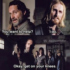 """Dwight and Rick. The Walking Dead S07 E15 """"Something They Need."""" Season 7 Episode 15. #twd"""