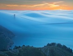 fog over golden gate — #MindBodySpirit. Brought to you by SunGoddess Magazine: Igniting the Powerful Goddess WIthin http://sungoddessmagazine.com