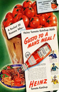 Heinz Ketchup Adds Gusto to a Man's Meal!