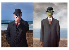 Photography - Hadas Boneh Homage to Magritte -Son of Man