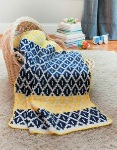 Tunisian Crochet Baby Blankets from Leisure Arts.