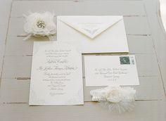 feminine + classic invitation suite | Melissa Schollaert #wedding