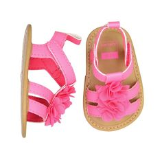 Baby Girl Carter's Double Strap Floral Sandal Crib Shoes These ultra cute girls' Carter's crib Sandals feature floral details and double straps. Toddler Girl Style, Toddler Girl Outfits, Baby Outfits Newborn, Kids Outfits, Toddler Girls, Baby Boots, Kids Boots, Baby Girl Shoes, Girls Shoes