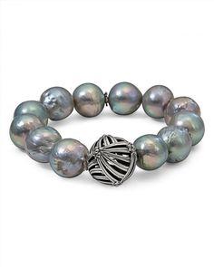 Stephen Dweck Faceted Aqua Quartz & Mother-of-Pearl Doublet Bangle Bracelet LawWbMwSEX