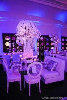 Cascading crystal and orchid centerpiece from Melissa and Dean's reception. Wedding and design by Tiffany Cook Events Modern Wedding Centerpieces, Orchid Centerpieces, Wedding Themes, Wedding Ideas, Flower Decorations, Wedding Decorations, Wedding Wishes, Celebrity Weddings, Event Decor