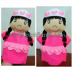 Princess hand puppet made by Pipi Flanel.. Wanna see our feltdolls collection? Please visit our website at www.pipiflanel.com thank you :)