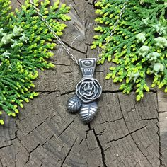 OOAK Handmade Sterling Silver Rose PendantRose Flower by ElvenLeaf