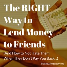There is a RIGHT way to lend money to friends and family. Make sure you know this 5 points BEFORE you lend anything to anyone: