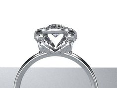 OMG! How about this one @Amanda LaMaster ? Look closely.  Diamond Owl Halo Engagement Ring 14K White Gold